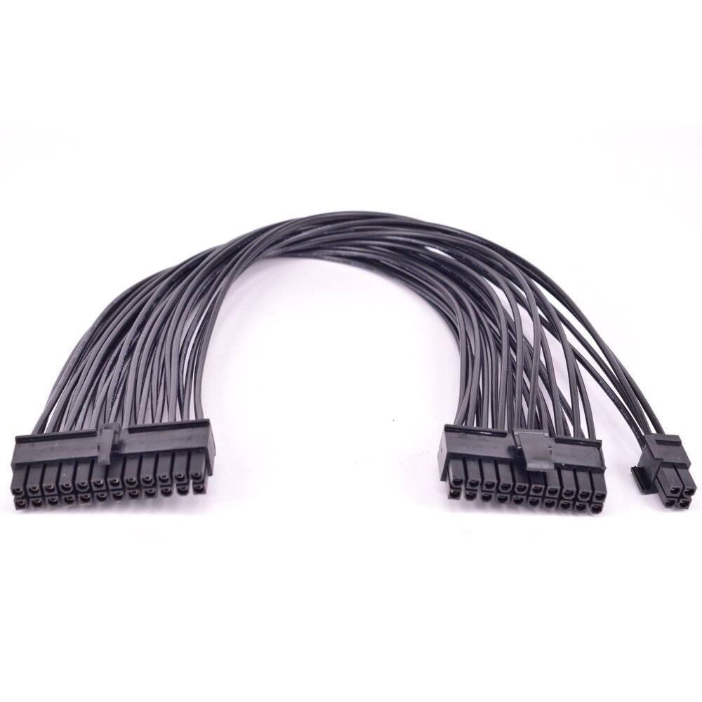 24Pin 20pin mâle à 24Pin mâle Port alimentation câble 24 broches ATX alimentation à 20 + 4Pin 20 broches connecteur câble