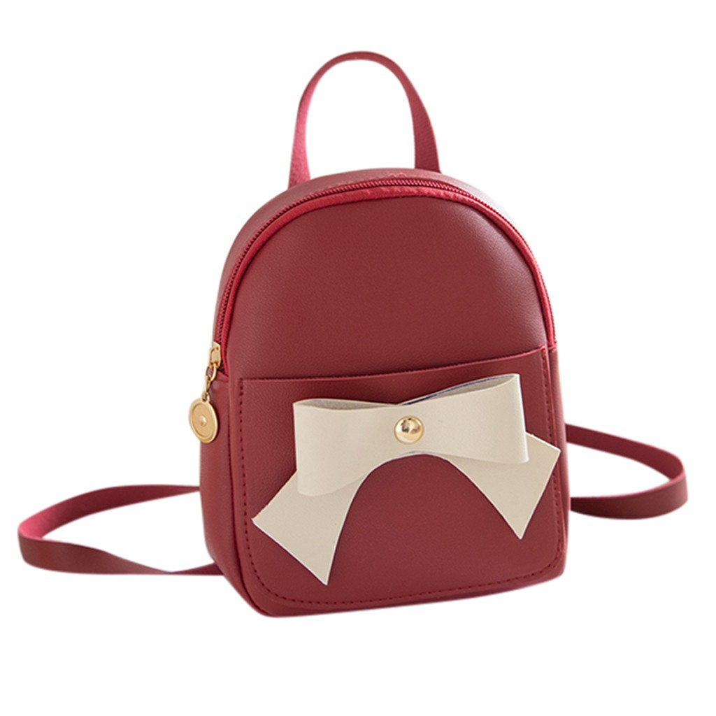 Women Preppy Backpack Leather New School Bags For Teenager Girls Ladies Small Female Fashion Sweet Knapsack May8