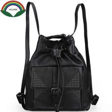 Школьная сумка заклепки рюкзак женщины из коровьей кожи с бахромой сумка разработан новый бренд ноутбук рюкзак женский маленький рюкзак женщины рюкзак