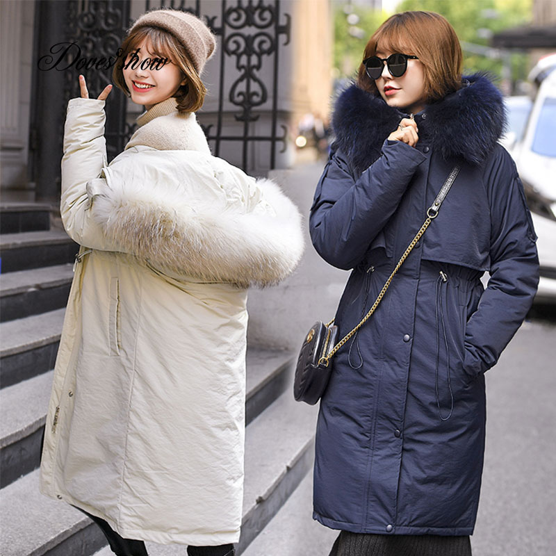 Fur   Coat   Hooded Winter   Down     Coat   Jacket Thick Warm Long Casaco Feminino Abrigos Mujer Invierno Cotton padded Wadded Parkas 88