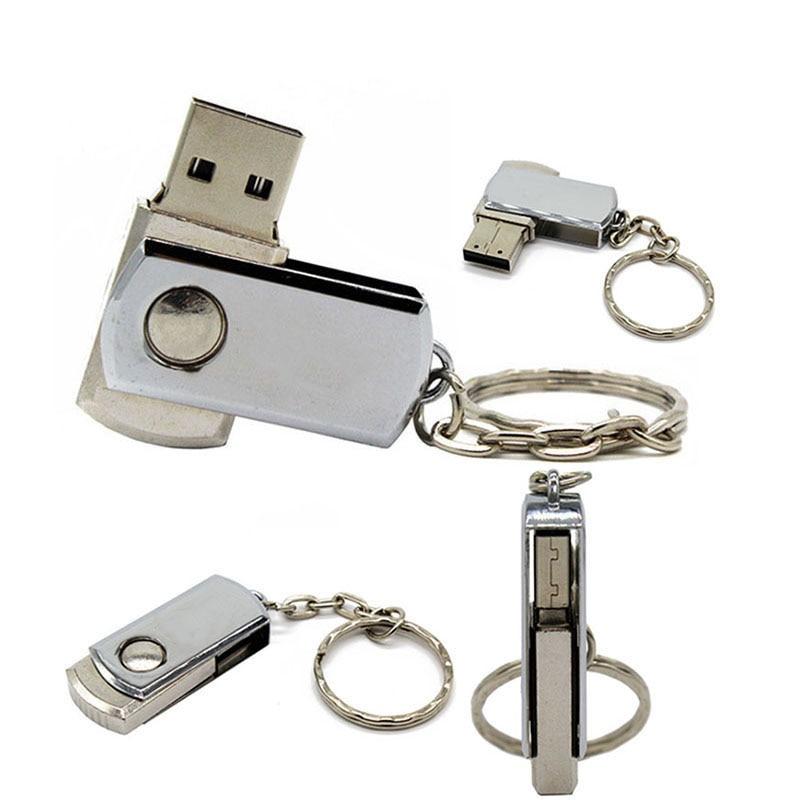 BiNFUL USB Flash Drive 32GB 16GB 8GB Metal Pen Drive Key Ring Stick