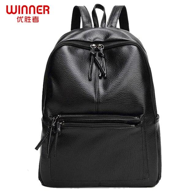 WINNER fashion women backpacks pu leather backpacks ladies travel bags women shoulder bags A4 keepers top-handle bolsas