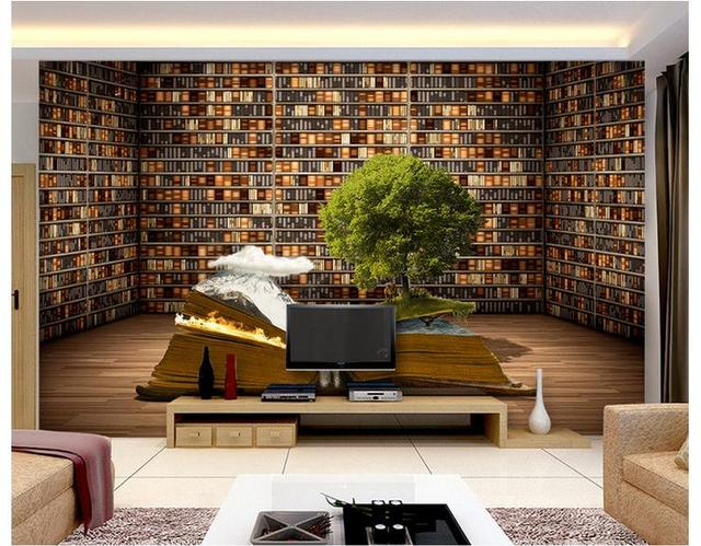 Custom 3d photo wallpaper 3d wall murals wallpaper Creative books ...