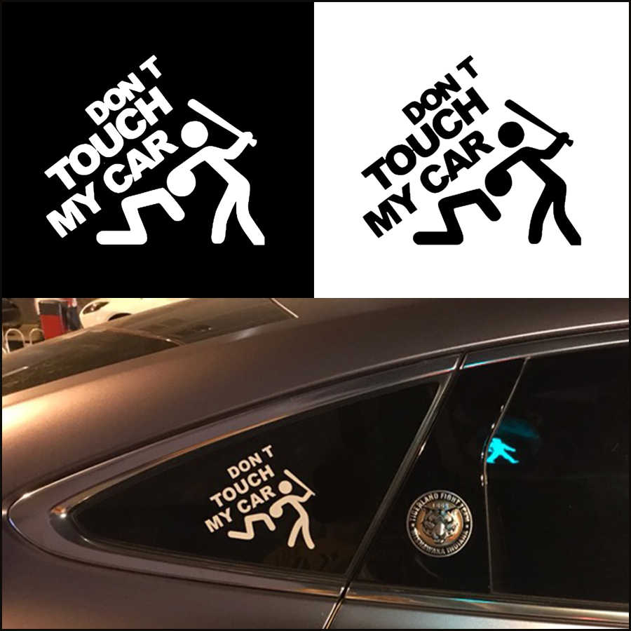 Jeazea car safety warning sticker do not touch my car decals window door body cover for