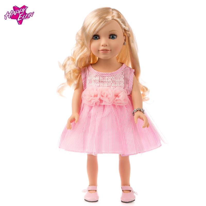 Elegant Pink Princess Evening Party Clothes Wears Dress Outfit Set for American Girl Doll 18in Doll Hot Selling princess 132502 pink