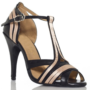 ФОТО Latin dance shoes female ballroom dancing shoes leather high-heeled cowhide soft outsole salsa shoes ladies XC-6327