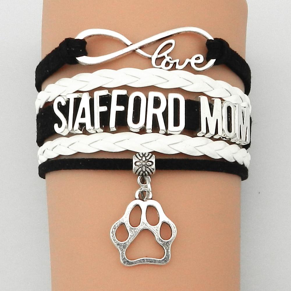 Drop Shipping Infinity Love Stafford Mamma Armbånd Hund eller Cat - Mote smykker
