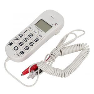 Image 4 - FSK/DTMF téléphone fixe avec identification dappel pour domicile bureau, téléphone filaire blanc
