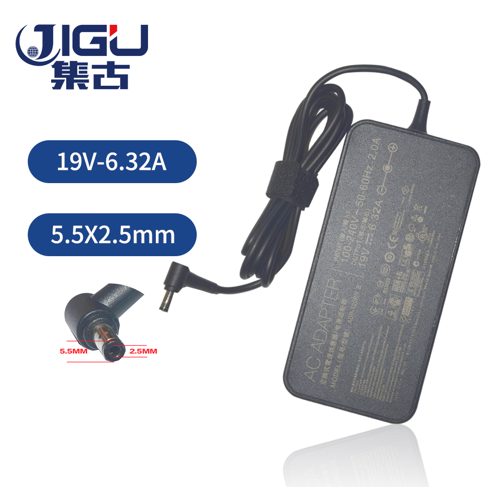 JIGU <font><b>19V</b></font> <font><b>6.32A</b></font> <font><b>120w</b></font> Laptop Charger AC Adapter Power for <font><b>asus</b></font> G73 G71 UX501 GL751 K73 K53 for acer\hp\toshiba laptop 5.5X2.5mm image