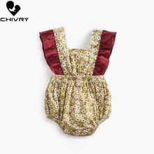 Chivry 2019 Baby Girls Bodysuit Summer Sleeveless Bowknot Floral Cute Jumpsuit Newborn Playsuit Infant Clothes