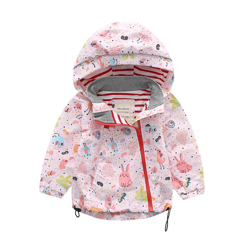 Kids Boys Coat For Girls Jacket Cartoon Children Waterproof Jackets 2018 New Spring Girl Outerwear Coats Baby Girl Clothing new spring teenagers kids clothes pu leather girls jackets children outwear for baby girls boys zipper clothing coats costume