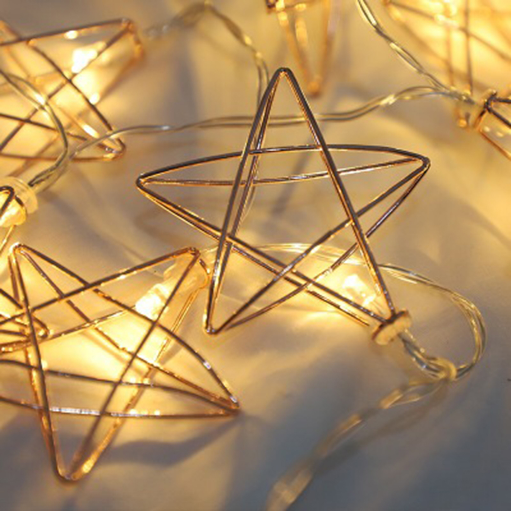1M/1.5M/3M Iron Star LED Fairy Fairy Tale Lantern Strings for Garland New Year Christmas Wedding Party Decoration детский жакет ming kai fairy tale 52fs147 2015