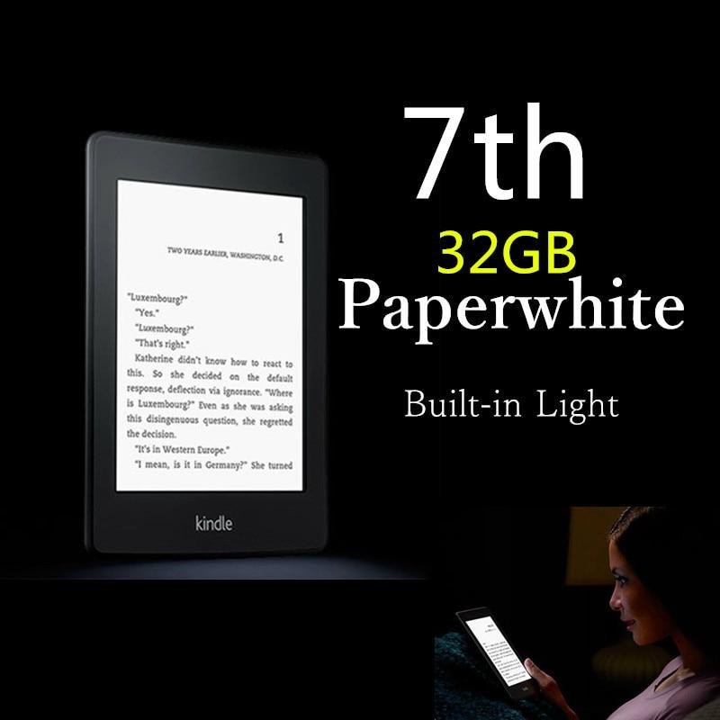 32GB Brand New Black Kindle Paperwhite 7 Generation E-book reader Built in Light 6 Inch 4GB Ebook Reader E-ink Ereader