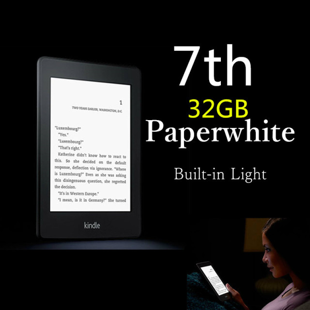 32GB Brand New Black Kindle Paperwhite 7 Generation E-book reader Built in Light 6 Inch 4GB Ebook Reader E-ink Ereader