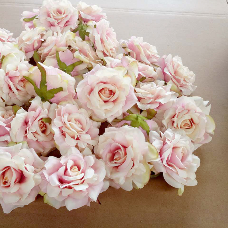 10PCS Artificial Flowers Head 10 cm For Wedding Decoration DIY Wreath Gift ..