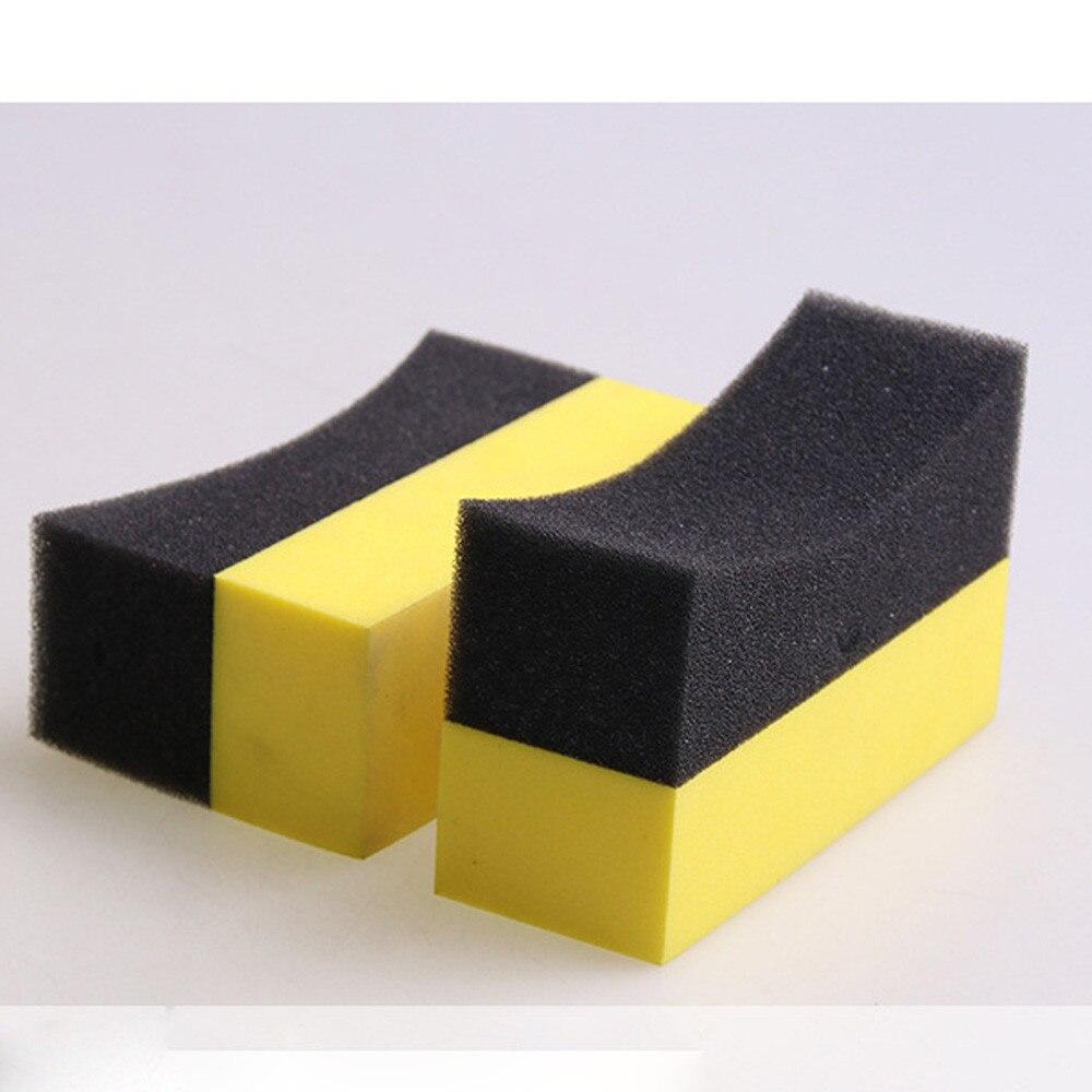 Shunwei Car Easy 4pcs UShape Car Tire Waxing Polishing Compound Washing Sponge Cleaning Pad Brush n# dropship