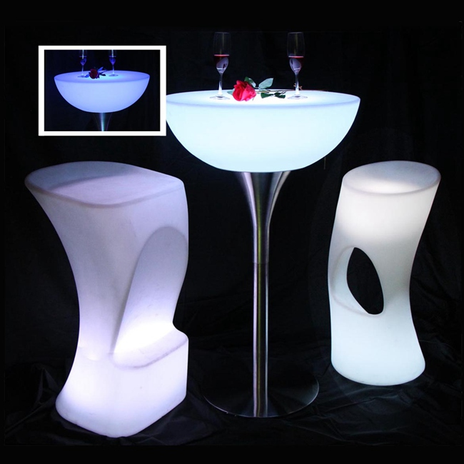 Led Table Bar Furniture 16 color Changing Lighting Bar Table For Party Event SK-LF20 (D66*H110cm) Sample only Free Shipping only for sample payment