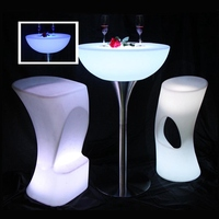 Led Table Bar Furniture 16 color Changing Lighting Bar Table For Party Event SK LF20 (D66*H110cm) Sample only Free Shipping