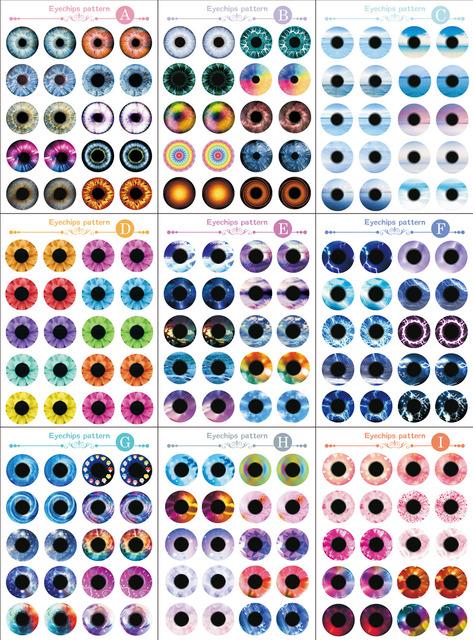 Blythe Doll Eyechip Patterns