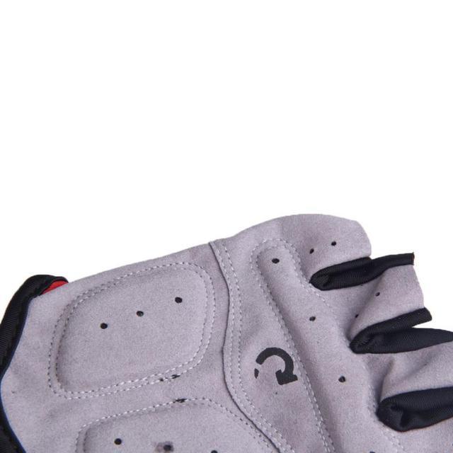 1 par metade do dedo luvas de ciclismo gel bicicleta equitação luvas anti deslizamento para mtb estrada mountain bike luva anti choque esporte 6