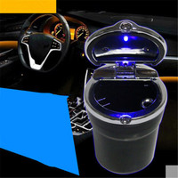 Car Styling Car Cigarette Ashtray With LED Lamp For Mini One Cooper R50 R52 R53 R55