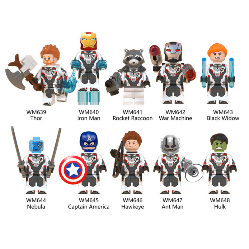 10PCS Quantum Realm Suit Avengers Superhero Mini Figure Building Blocks DIY Toys