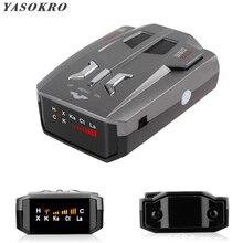Авто Анти радар детектор сигнала(английский/русский) для автомобиля V9 голосовое предупреждение о скорости 16 полосный светодиодный дисплей детектор