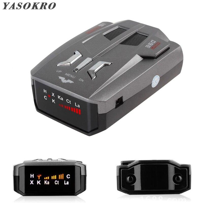 Автомобильный антирадар, детектор сигнала (английский/русский) для автомобиля, V9 голосовое предупреждение о скорости, 16-полосный светодиод...