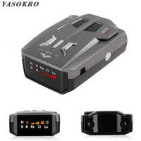 Auto Car Anti Radar Signal Detector (English/Russian )for Vehicle V9 Speed Voice Alert Warning 16 Band LED Display Detector