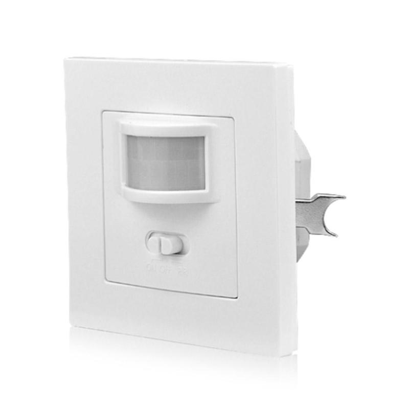 AC 110-240V PIR Infrared Motion Sensor Smart Light Switch Recessed Wall Module With ON OFF 140 Degrees Human Body Move Induction indoor led light pir infrared motion sensor switch human body induction save energy with antenna light sensor wholesale pri 100a