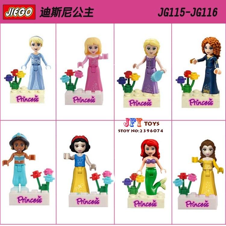 8pcs star wars super heroes marvel avengers Princess Girl Collection building blocks model bricks toys for children juguetes