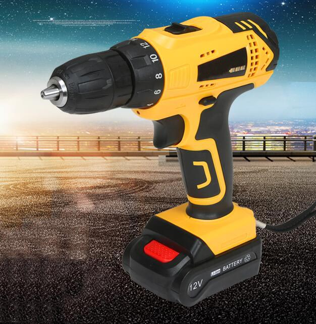 12V Rechargeable Hand Drill Cordless and Screwdriver Mini Electric Drill Driver Tools Set Household Hand Tools w/ 2pcs batteries dropshipping 4 8v electric screwdriver set multifunctional rechargeable hand drill household cordless drill with carry case