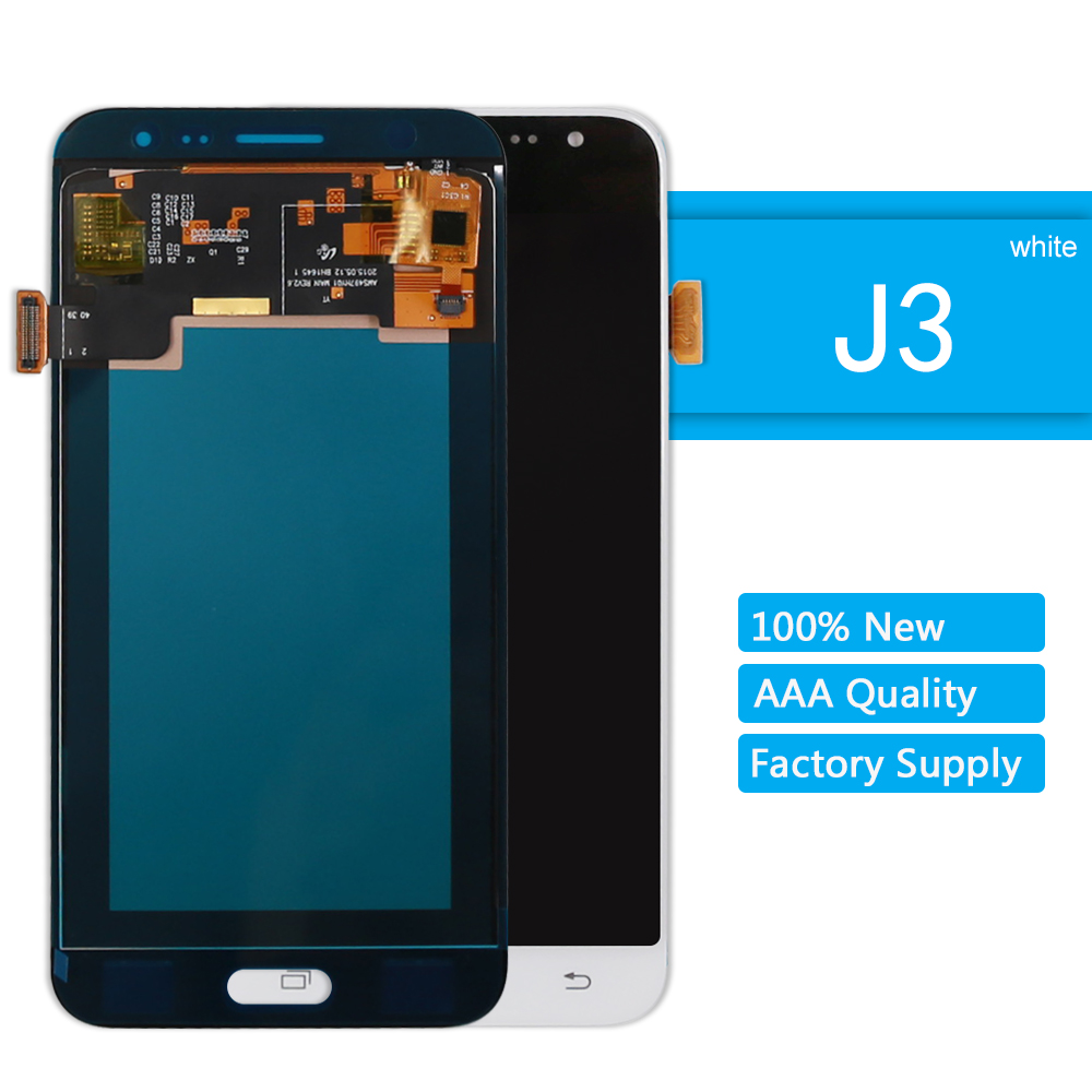 Replacement LCD For Samsung Galaxy J3 Display LCD SM 320F Display J320A J320F J320M Touch Screen Assembly White + Tools