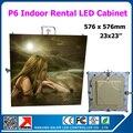 TEEHO 576*576 мм 23x23 дюйма Крытый p6 светодиодный дисплей 1/16 сканирование Прокат алюминиевый шкаф для большой Прокат led видео стена свадебное событ...
