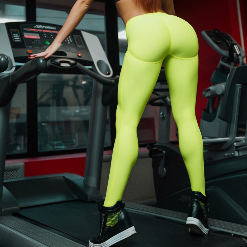 2018 Women Super Soft Booty Leggings Push Up High Waist Skinny Pants Fitness Leggings Workout Breathable Sports Active Pants