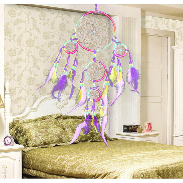 Large 5 Circles Feather Dreamcatcher