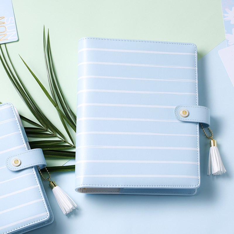 Lovedoki  2017 New Arrive Sky Blue A5 A6 Planner Creative Organizer Diary Notebook Faux Leather Dokibook брелок blue sky faux taobao pc006