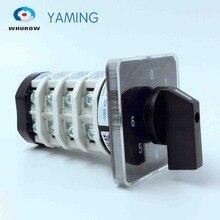 Draaischakelaar YMZ12 32/4 Elektrische Combinatie Omschakeling Cam Switch 32A 4 Pole 0 6 Positie Sliver Contacten Hoge spanning