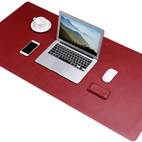 Bestjing 120x60cm PU Leather Gaming Mouse Pad Double Sided Design Computer Laptop Table Desk Pad Protector For Office & Home