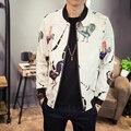 2017 Новый Мужчины Куртку Весенняя Мода Печати Slim Fit Мужчины повседневная Куртка Плюс Размер Длинным Рукавом Ветровка Пальто Мужской 5XL-M Горячие