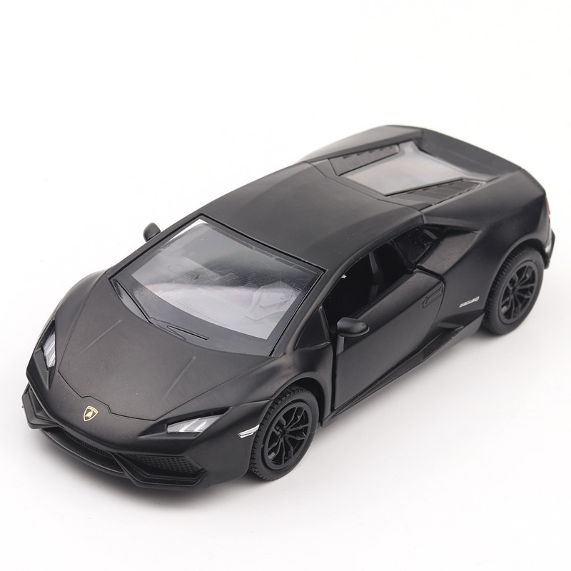 5 inch High Simulation Toy Vehicles Diecaste Metal Alloy Car For Lamborghini Huracan Model Toy Vehicles Matte Black For Kid ...