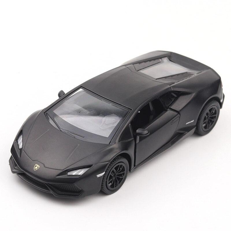 5 pouce Haute Simulation Jouet Véhicules Diecaste Métal Alliage De Voiture Pour Lamborghini Huracan Modèle Jouet Véhicules Mat Noir Pour Enfant