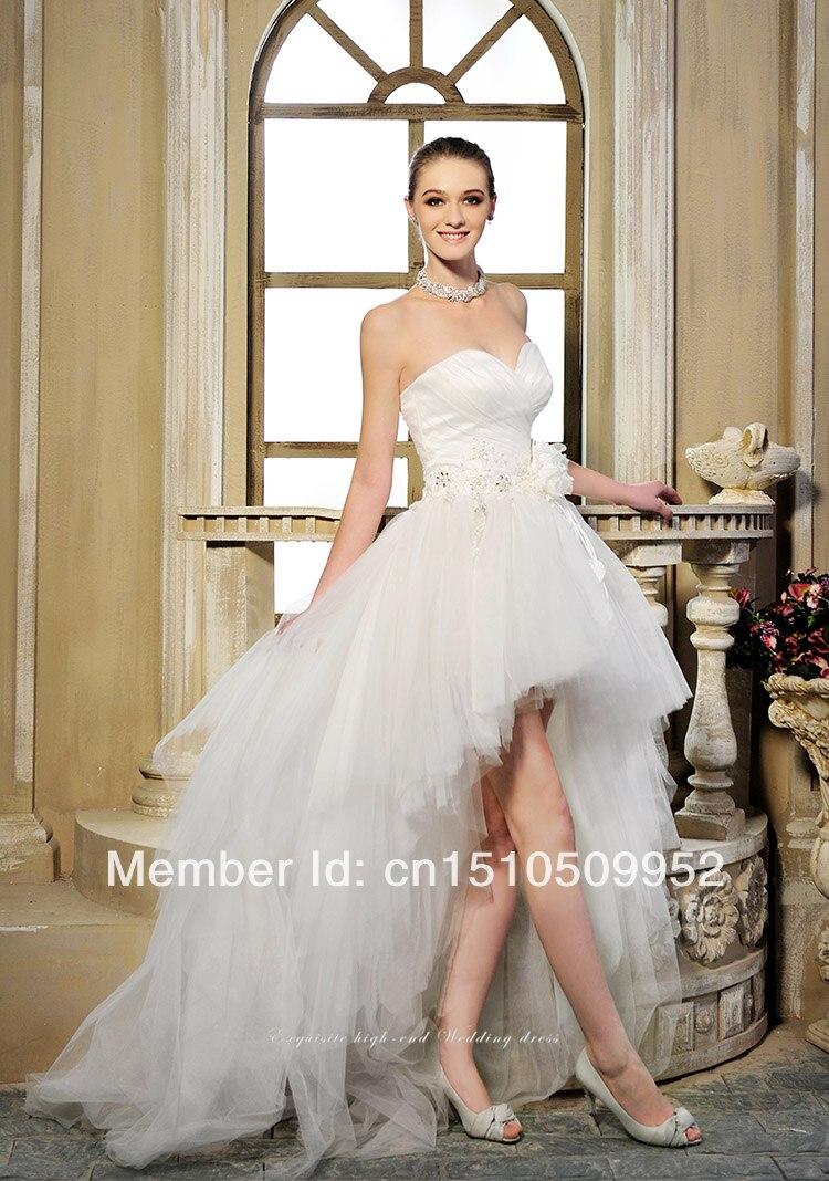 Short front long back wedding dress for sale