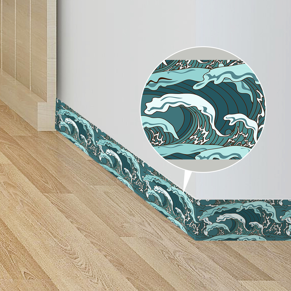 Funlife Waterproof Wall Border Stickers Japanese Style