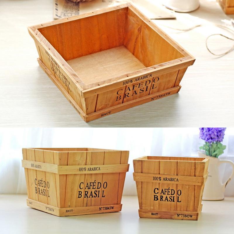 caja de de madera de mltiples funciones de frutas flores de tres diferentes tamaos de