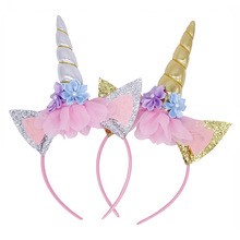 1Pcs Halloween Head Hoop Princess Birthday Party Carnival Unicorn Band Event Party Supplies Hat Princess Headdress Dance Party