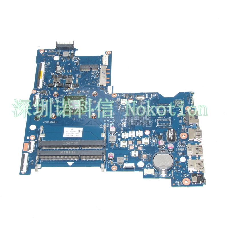 NOKOTION Original 813968-001 Laptop Mainboard For HP 15-AF ABL51 LA-C781P 813968-501 motherboard full test WORKS nokotion 814611 001 818074 001 laptop motherboard for hp 15 af series abl51 la c781p mainboard full test