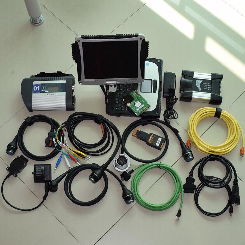 2018 Новое поступление инструменту диагностики для мб звезды c4 для BMW ICOM рядом с CF-19 ноутбук 4 г с 1 ТБ 2in1 HDD полный комплект готов к использовани...