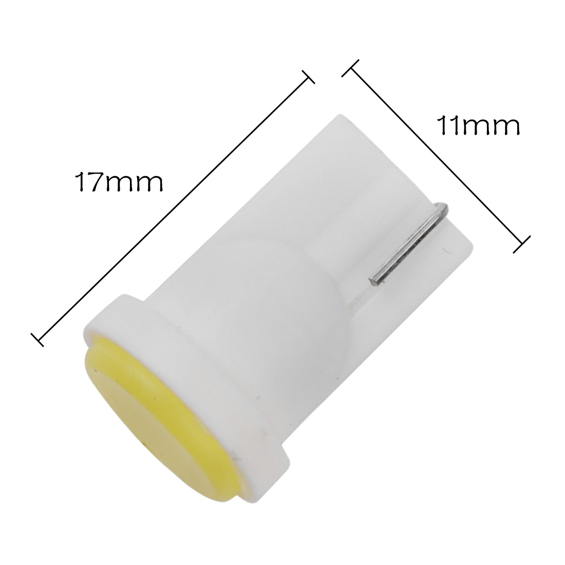 Tonewan 10pcs Ceramic Car Interior <font><b>LED</b></font> <font><b>T10</b></font> COB W5W Wedge Door Instrument Side Bulb Lamp Car White Source 12V image