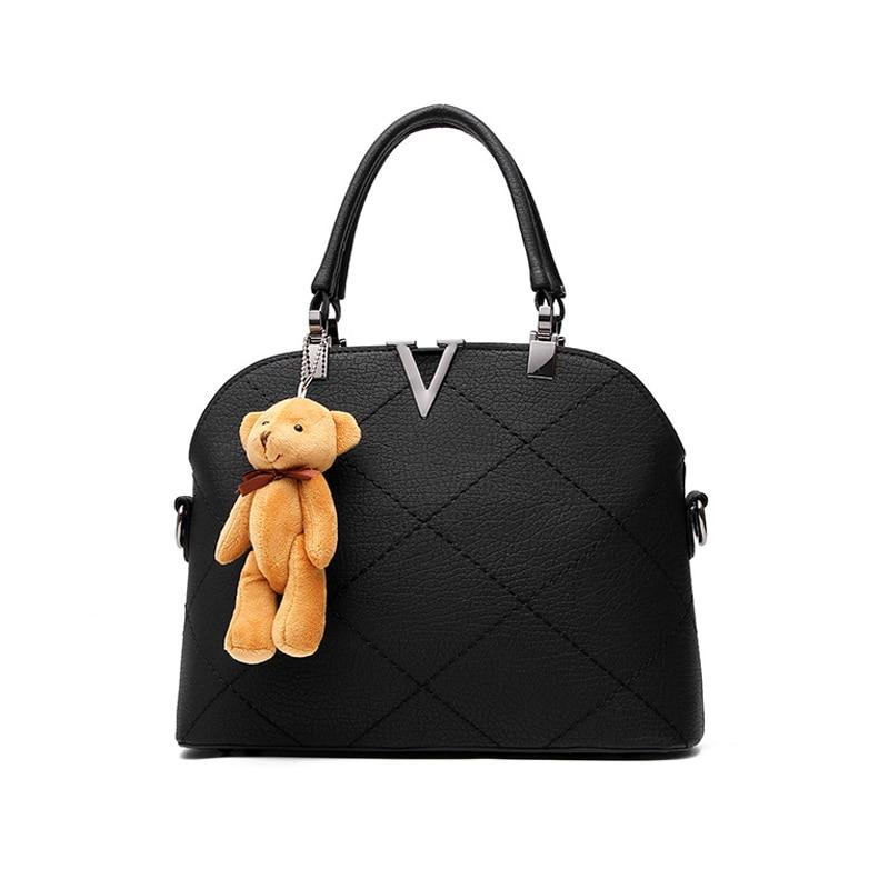 Ladies pu leather bags shell black font b handbags b font women famous brands designer sweet